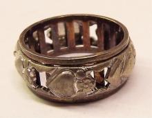 Sterling & 10k Ring