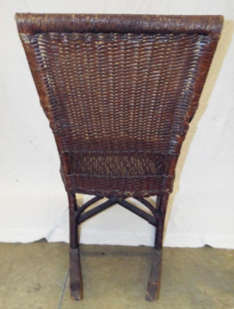 Lot 2094: Wicker Rocking Patio Chair