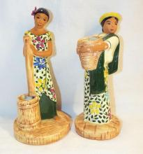 Pair Of Dan Davis California Pottery Figurines