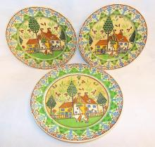 3 Royal Doulton Sampler Plates