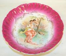 Figural Decorated Porcelain Bowl