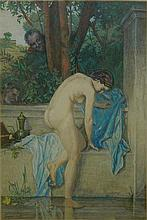 J. J. Henner, print of nude