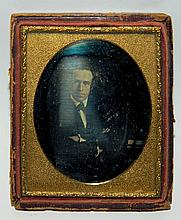 Tin Type Portrait of Man in Frame