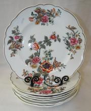 7 Floral Decorated Plates