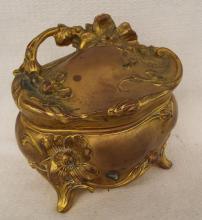 Gilt Metal Floral Jewelry Box