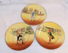 3 Royal Doulton Dickensware Plates