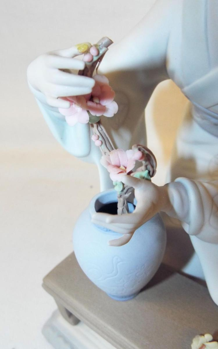 Lladro hand made figurine of oriental lady - Consider including lladro porcelain figurines home decoration ...