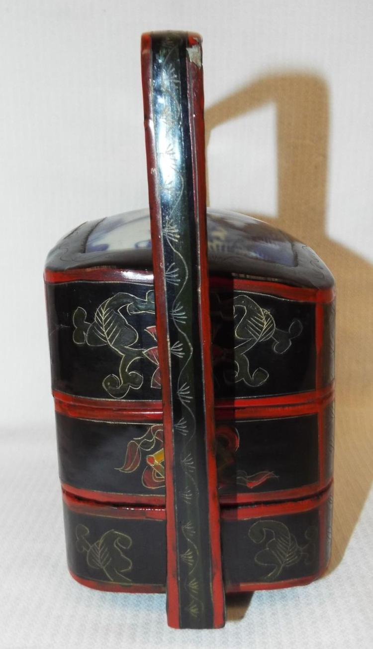 Oriental Decorated Stackable Box