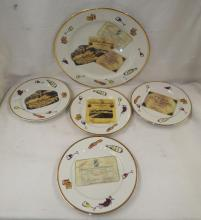 Rosanna Italy Plates With French Wine Label Design