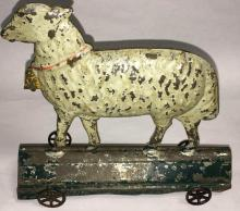 Early Sheep Tin Toy
