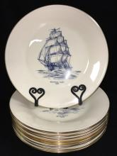 Set Of 9 Lenox Plates With Ship Scenes