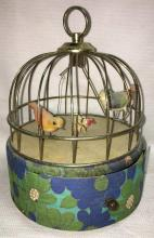 Victorian Musical Wind Up Bird Cage
