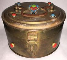 Copper Oriental Jeweled Box