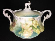 R. S. Prussia Porcelain Sugar Bowl