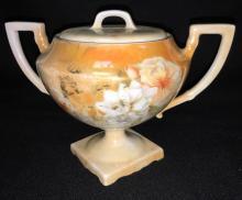 R. S. Germany Porcelain Sugar Bowl
