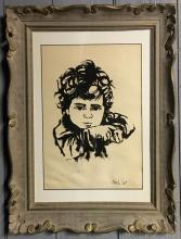 Moshe Gat Numbered Print Of Child