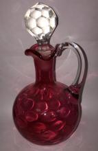 Cranberry Glass Cruet