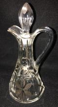 Glass Cruet With Silver Decoration