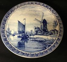 Delfts Blue Decorated Plate