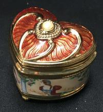 Romeo & Juliet Porcelain Enameled Trinket Box