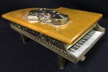 Brass Music Box Grand Piano