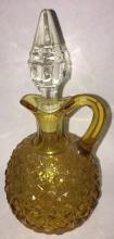 Amber Glass Cruet