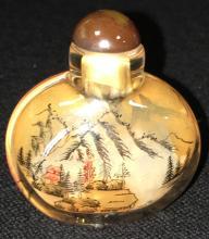 Oriental Reverse Painted Snuff Bottle
