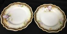 Pair Of R. S. Prussia Porcelain Plates