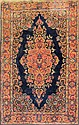 Antique blue Sarouk Area Rug