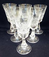 Set Of 6 Waterford Crystal Liquor Glasses