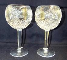 Pair Of Waterford Crystal Wine Glasses