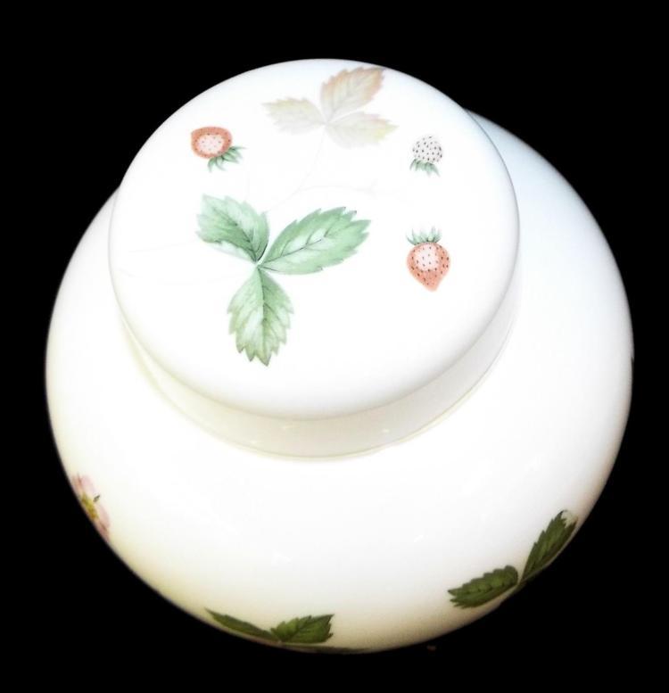 Sold Price: Wedgwood Bone China Jar, Wild Strawberry