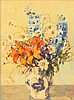 Shirley Russell Water Color Still Life of Flowers, Shirley Marie Hopper Russell, Click for value