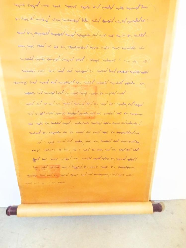 scroll writing Large blank paper scrolls  a bright solid color dragon yellow blank paper chinese wall scroll very suitable for both writing calligraphy and brush paintingplease.