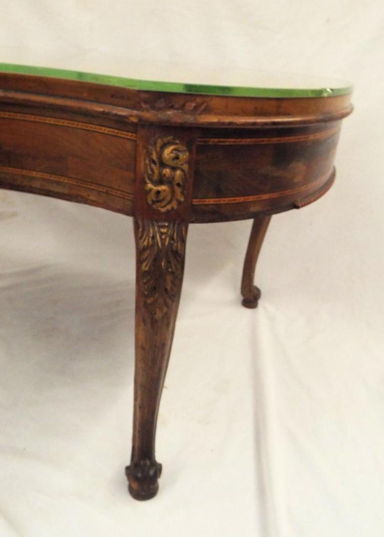 Inlaid One Drawer Coffee Table
