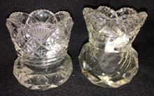 Two Cut Glass Toothpicks