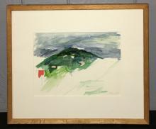 Connie Fox Watercolor, Frascati View