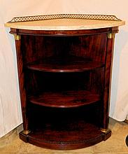 French Empire Mahogany Corner Cabinet