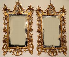 Important Pair of George III Gilt Mirrors