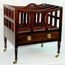 19th Century English Mahogany Canterbury