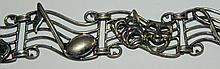 Sterling Silver Music Bracelet