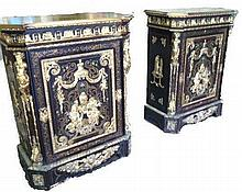 Rare Pair of French Side Cabinets Ormolu 19th C.