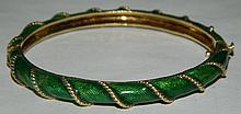 14K Gold Enameled Bracelet