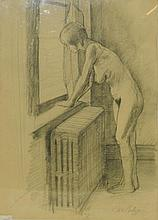 Don Perlis Pencil Drawing of Nude Woman