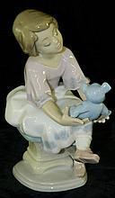 Lladro Collectors Society Girl with Bear
