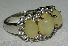 Sterling Silver Ring with Three Stones
