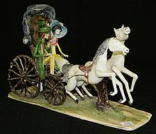 Signed Figural Grouping of Horse and Buggy