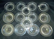 Set of Val St. Lambert Cut Glass Plates