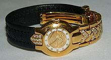 Gianni Versace 750 Gold Wrist Watch with Diamonds