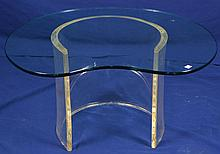Kidney Shaped Lucite Side Table